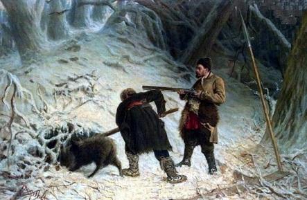 На зимней охоте