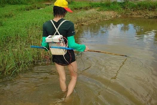Лов рыбы электроудочками