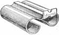 Самодельный, жестяной, съемный прицел для гладкоствольных ружей, употребляемый при стрельбе пулей