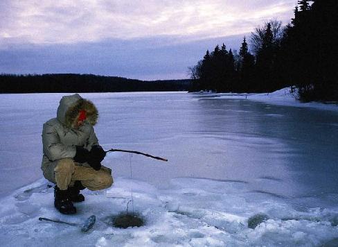 Рыбалка в проруби